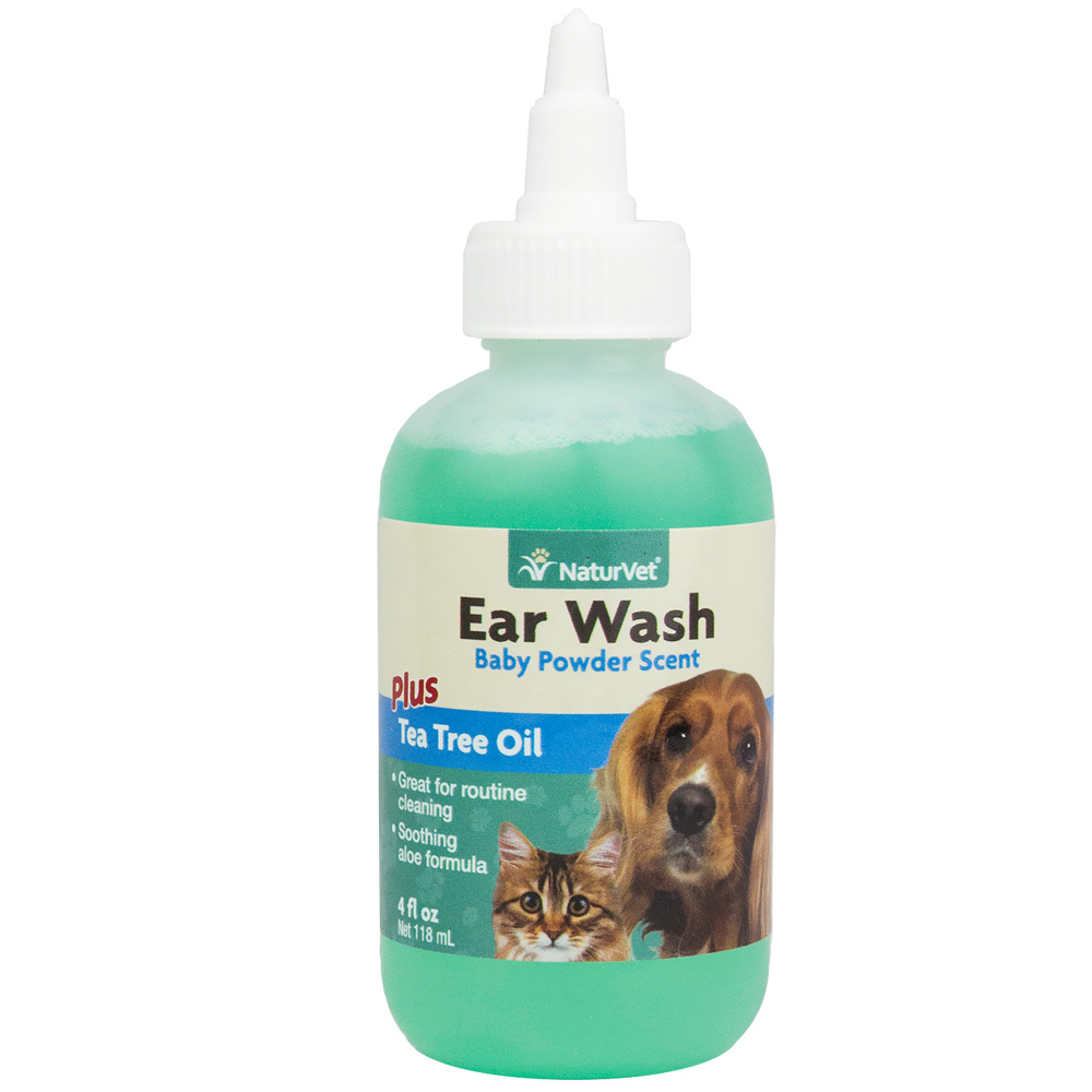 NaturVet Ear Wash with Tea Tree Oil (4 oz.)