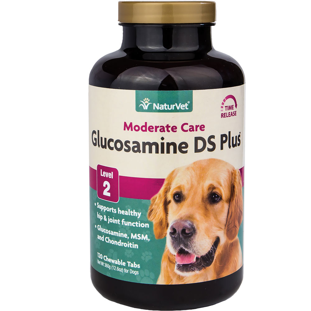 NaturVet Glucosamine DS with MSM (120 chewable tablets)
