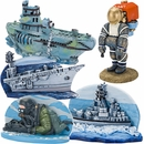 Navy Complete Aquarium Ornament Set