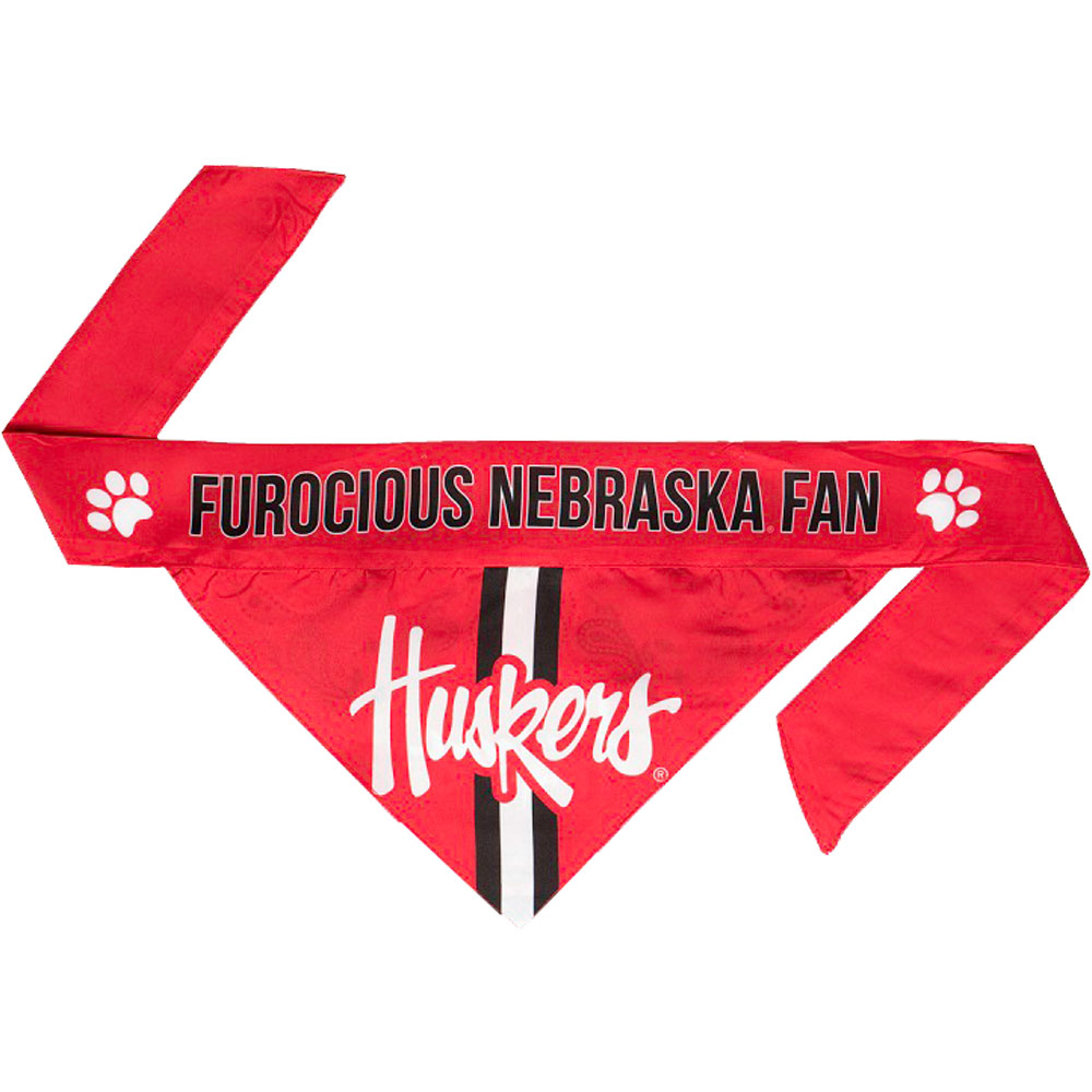 Nebraska Dog Bandana - Tie On (Large)