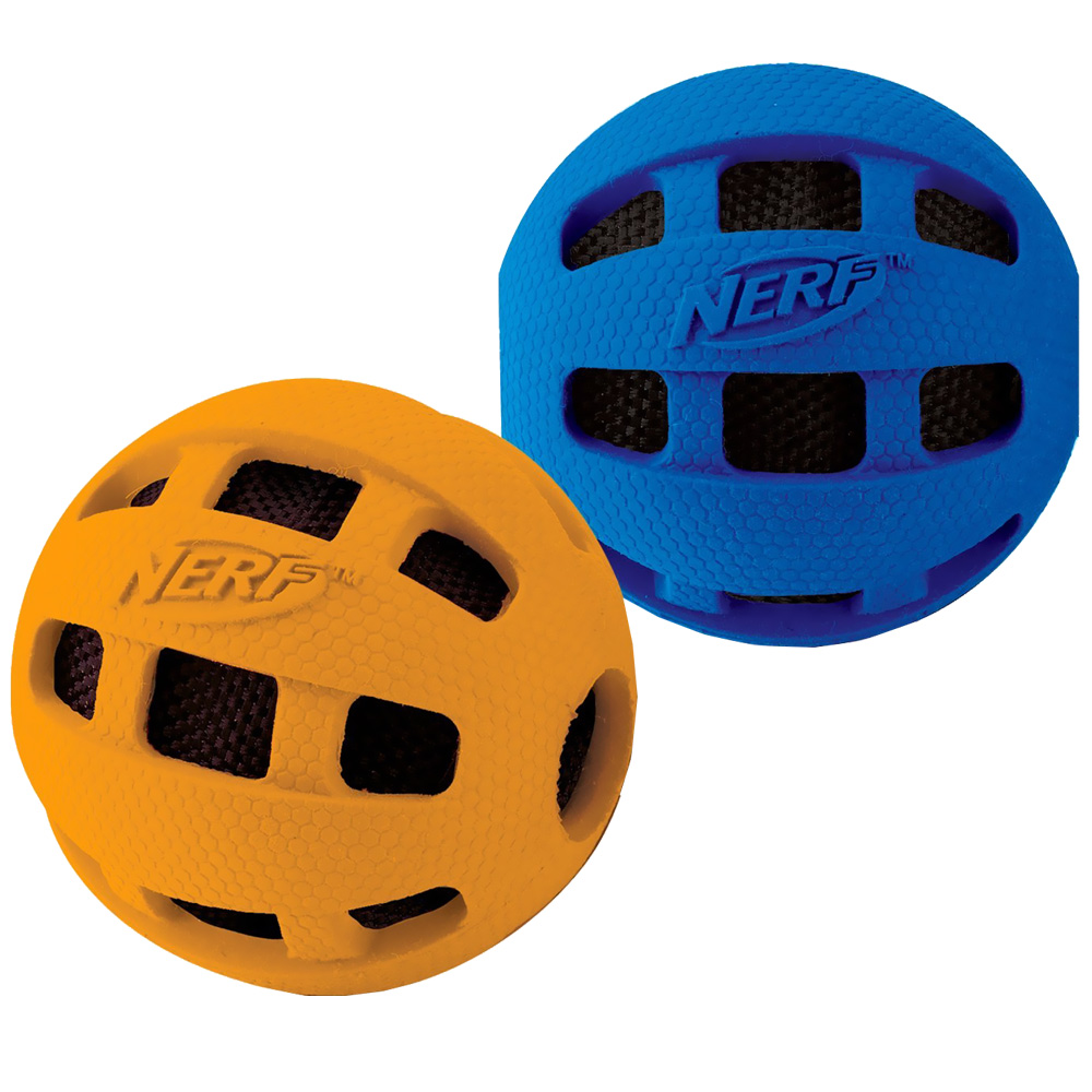 Nerf Dog Crunchable Checker Ball - Medium (4 in)