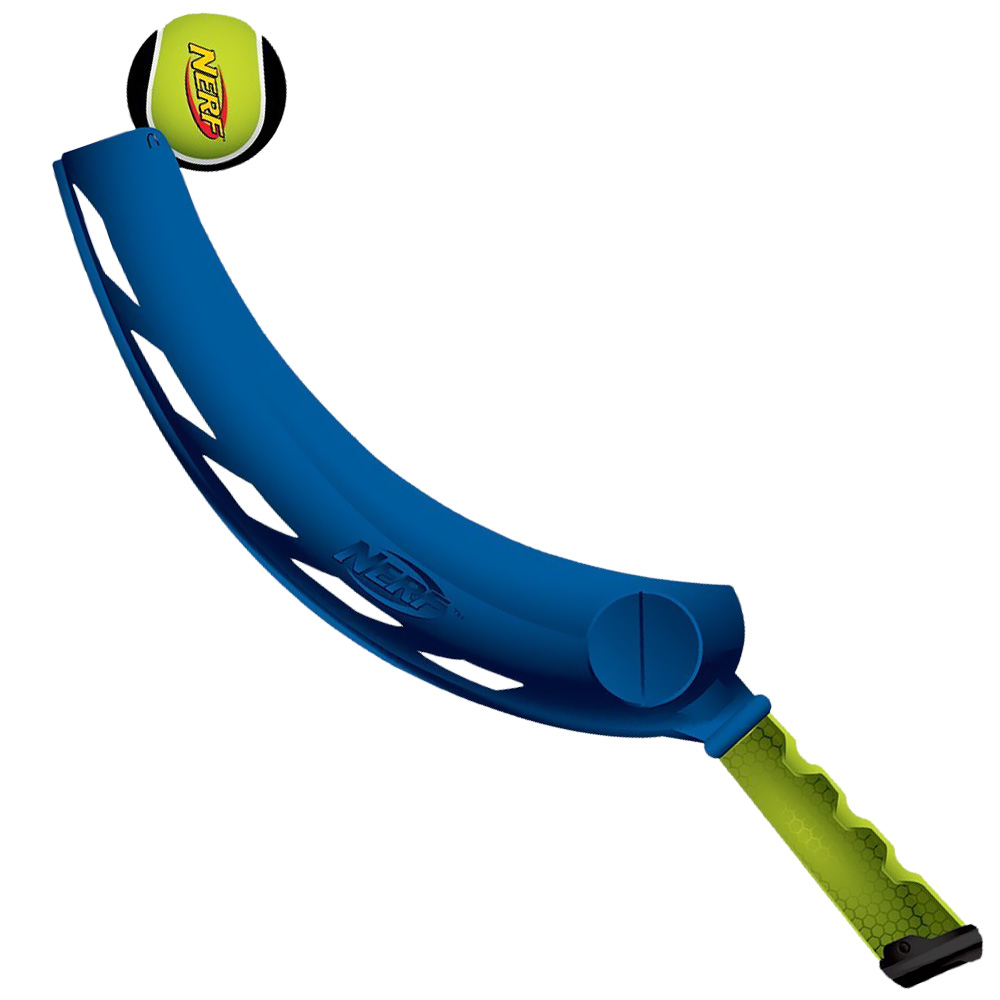 Nerf Dog Jai Alai Ball Thrower Blue