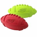 Nerf Dog Rubber Squeaker Football - Medium (7 in)