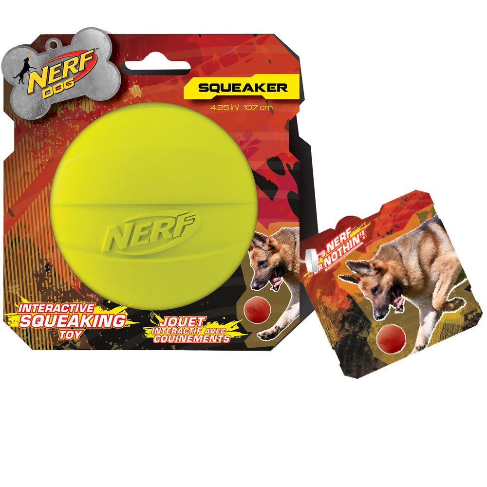 Nerf Dog Squeak Ball - Green
