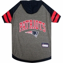 New England Patriots Dog Hoody Tee Shirt - Medium