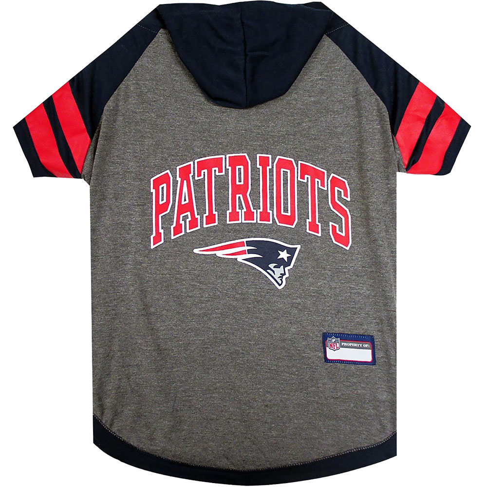 New England Patriots Dog Hoody Tee Shirt - XSmall