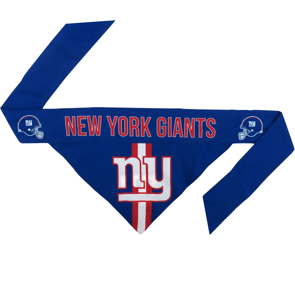 New York Giants Dog Bandana - Tie On (Large)
