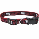 New York Giants Dog Collar - Ribbon (Large)