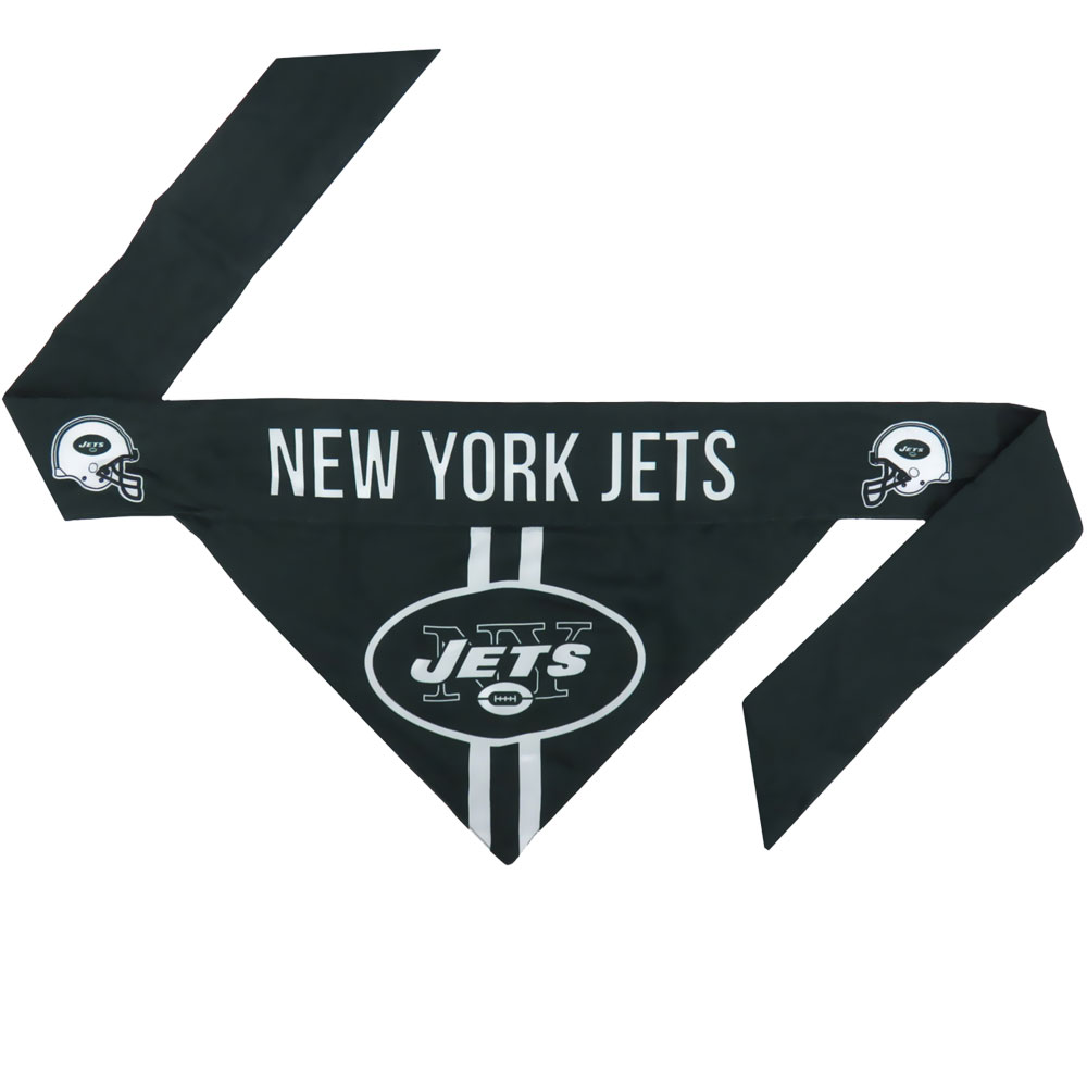 New York Jets Dog Bandana - Tie On (Large)