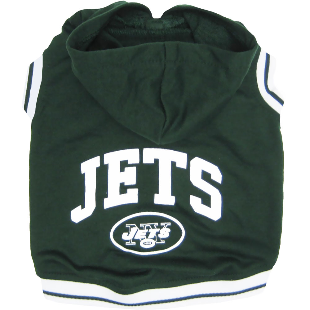 New York Jets Hoody Dog Tee Shirt - Medium