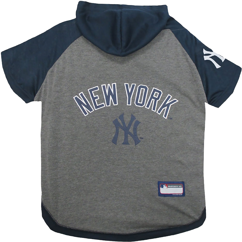 New York Yankees Dog Hoody Tee Shirt - Large