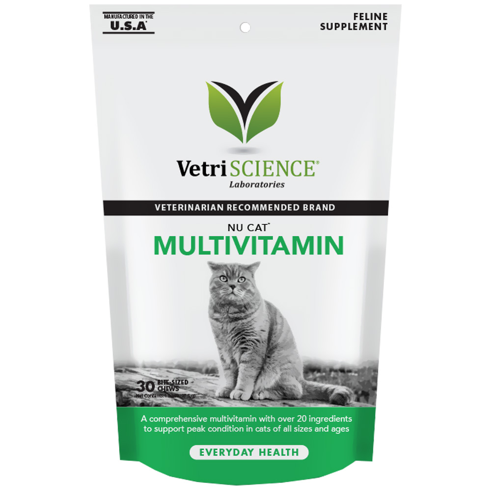 NuCat Multivitamin for Cats (30 Bite-Sized Chews)