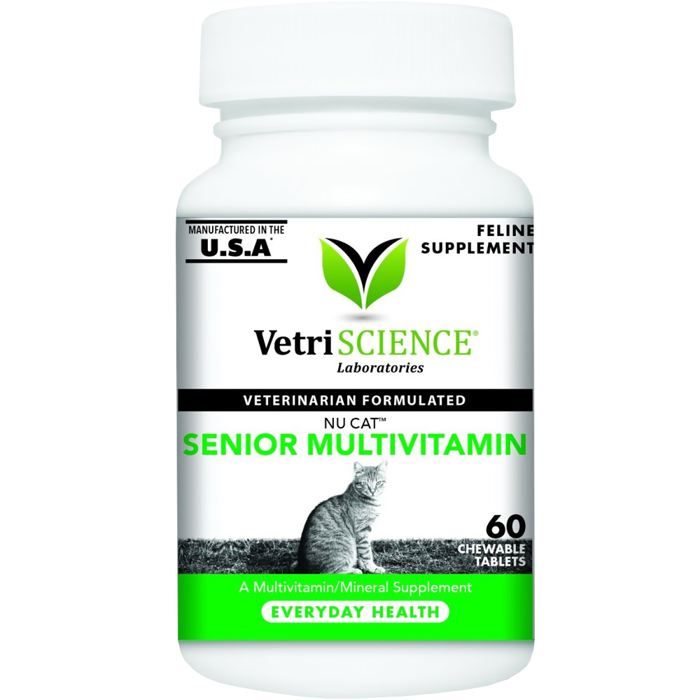 NuCat Senior Multivitamin for Cats (60 Chewable Tablets)