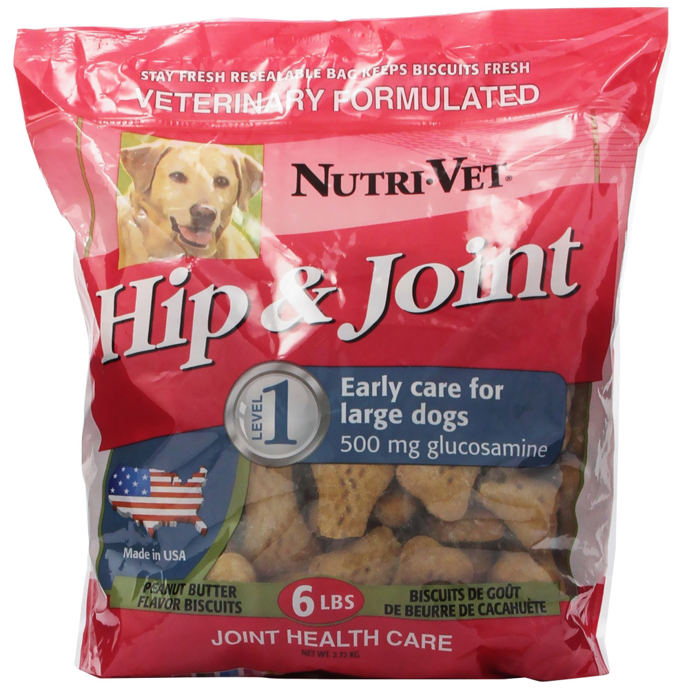 Nutri-Vet Hip and Joint Peanut Butter Flavor Wafers (6 lb)