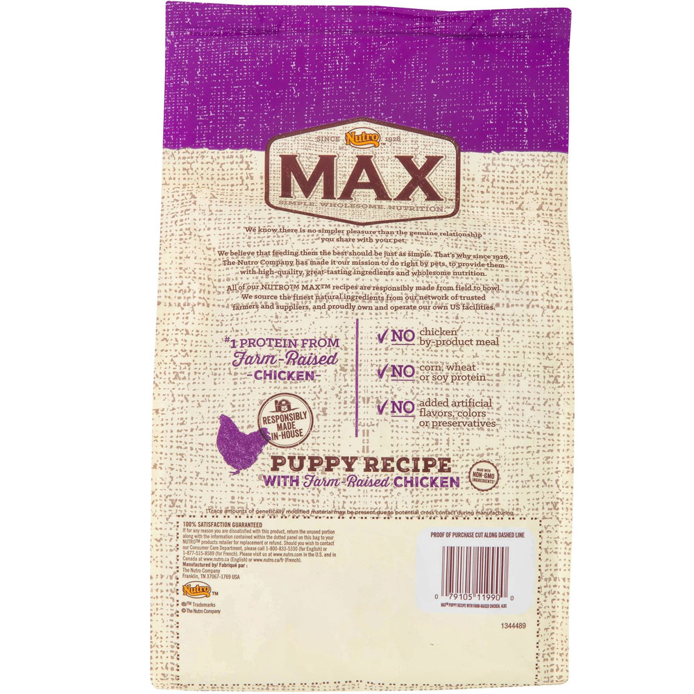 Nutro Max Large Breed Puppy Food Reviews