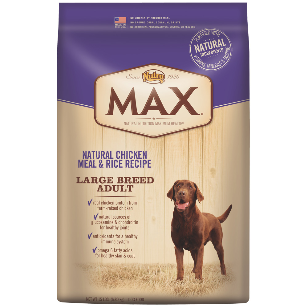 Nutro Max Large Breed Chicken & Rice - Adult Dog (15 lb)