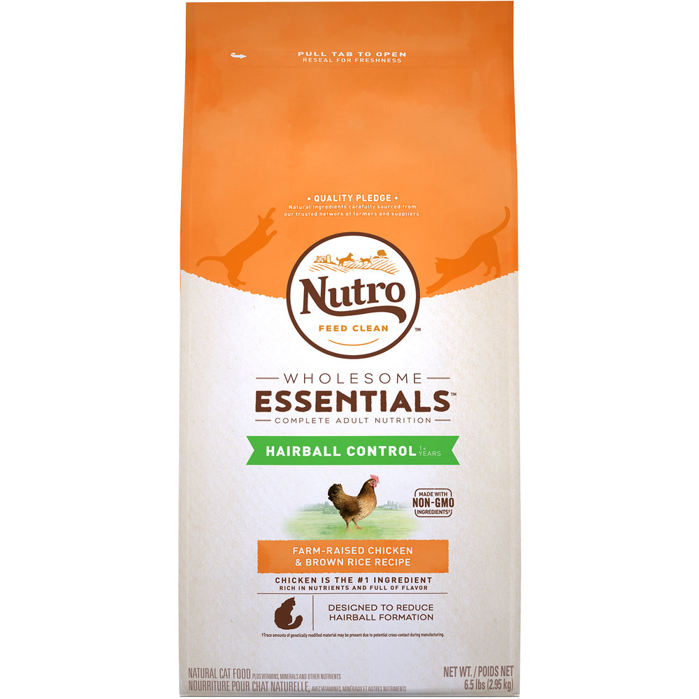 Nutro Wholesome Essentials Hairball Control Chicken & Brown Rice - Adult Cat (6.5 lb)