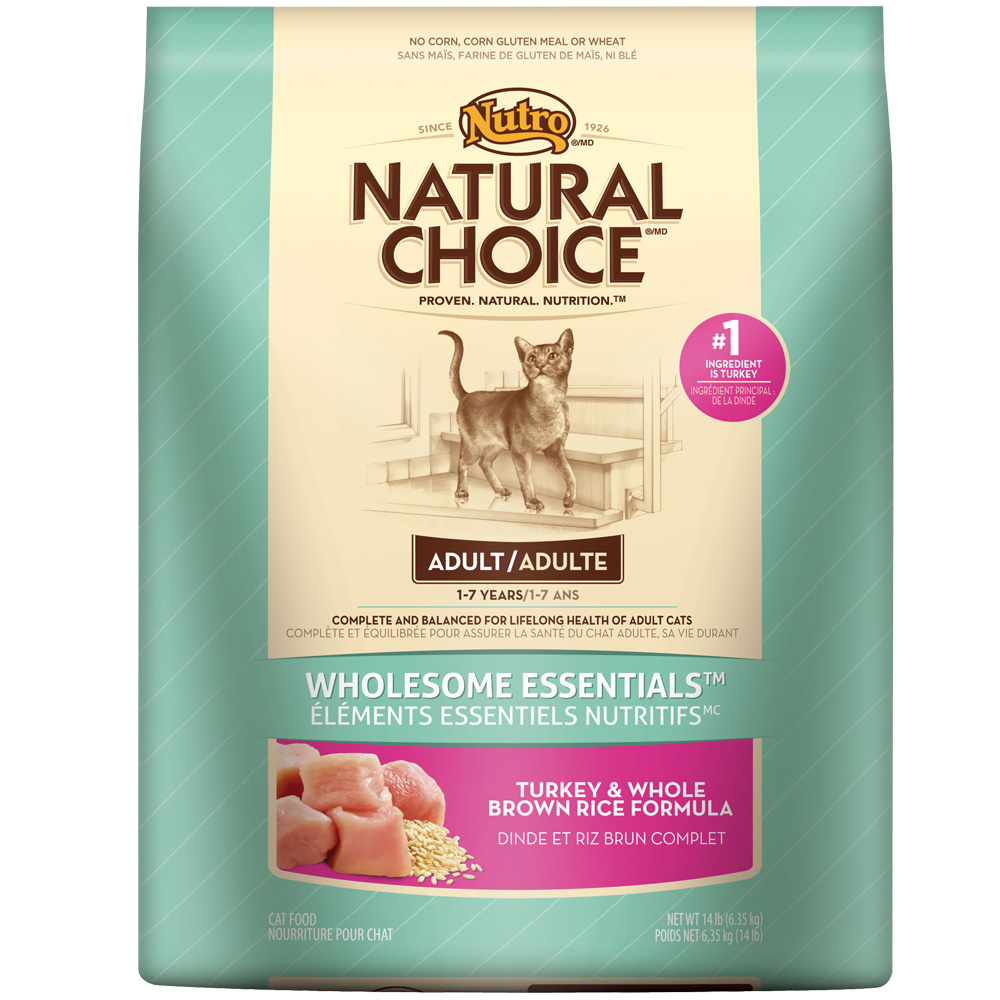 Nutro Natural Choice Adult Cat Food Turkey Brown Rice