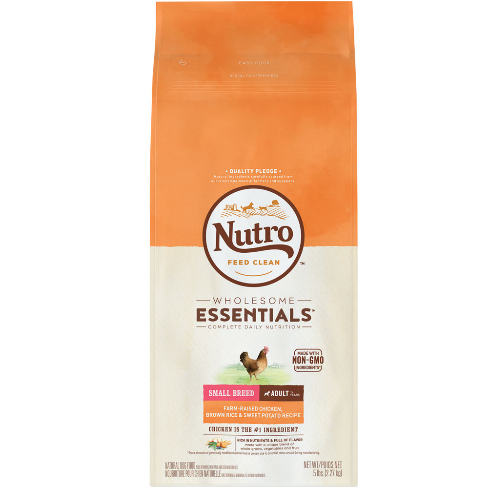 Nutro Wholesome Essentials Small Breed Chicken, Brown Rice & Sweet Potato - Adult Dog (5 lb)