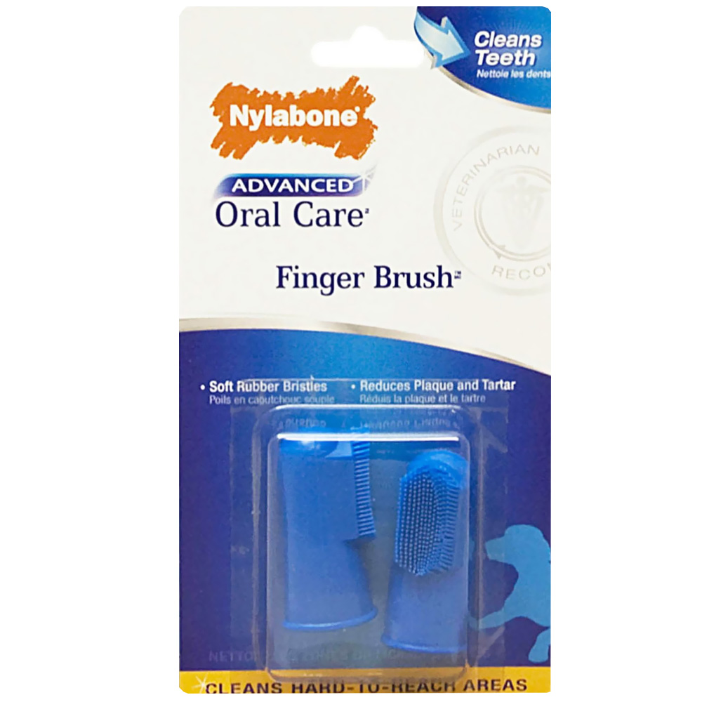 Nylabone Advanced Oral Care Finger Brush (2 Pack)