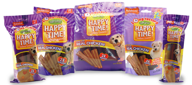 Nylabone Happy Time Chicken Dog Treat