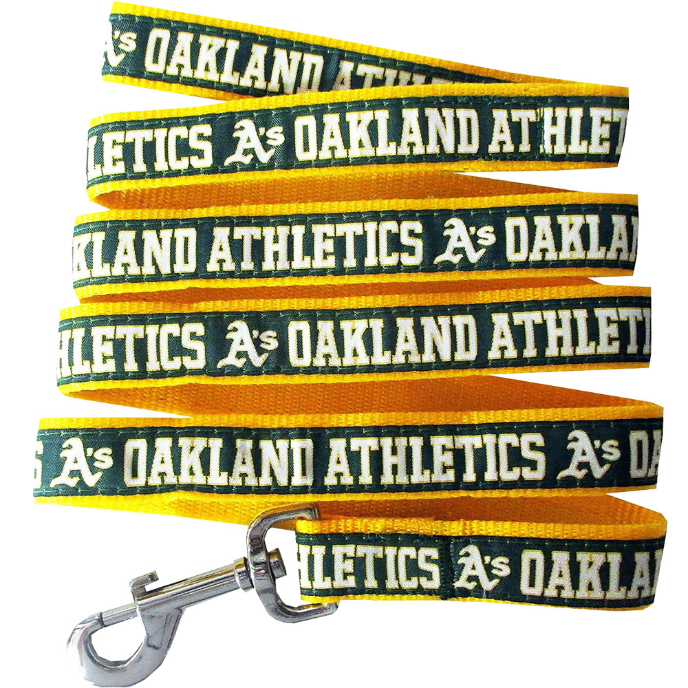 Oakland Athletics Dog Leash - Ribbon