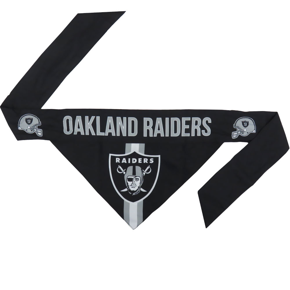 Oakland Raiders Dog Bandana - Tie On (Large)