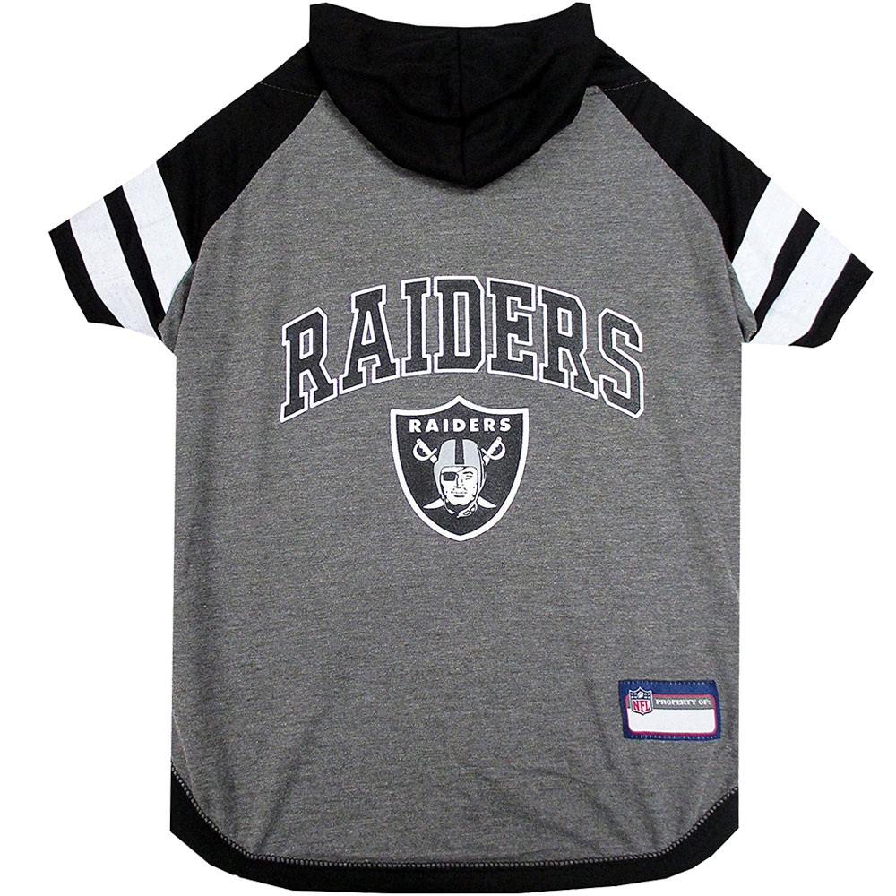 Oakland Raiders Hoody Dog Tee Shirt - Large
