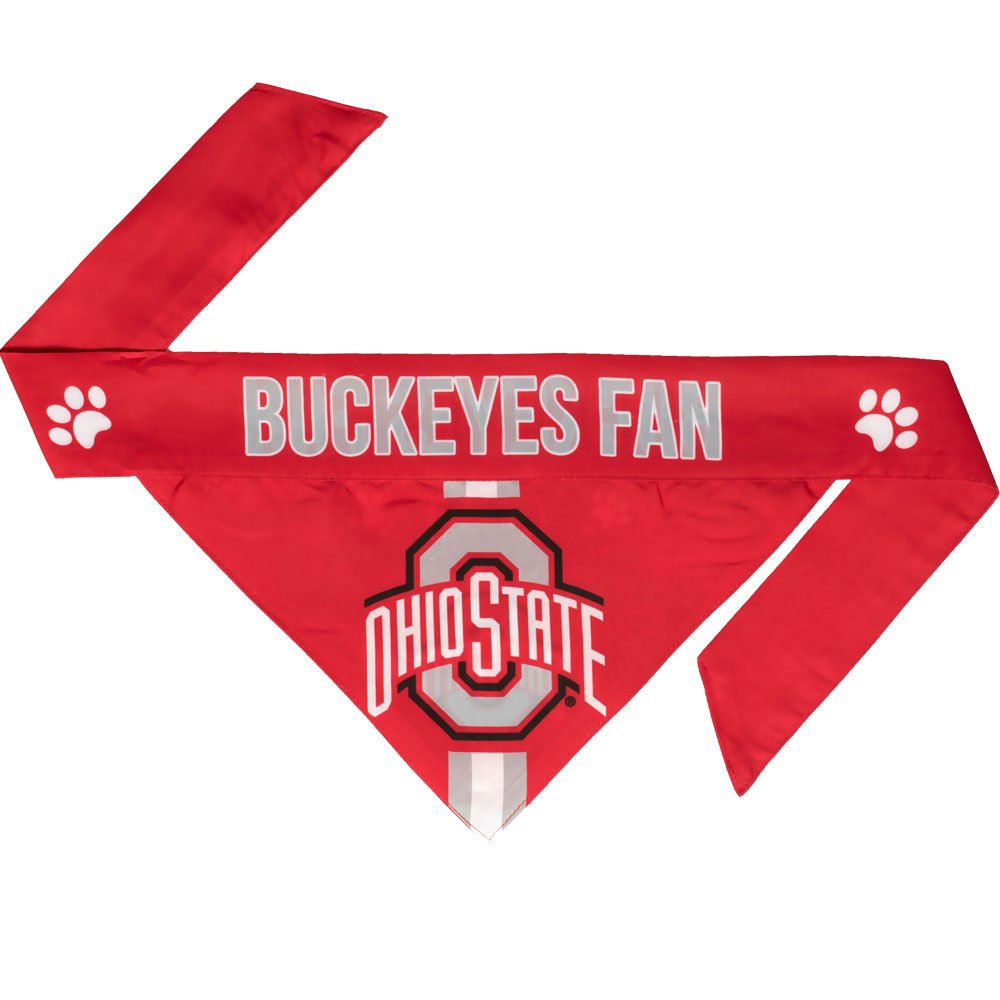 Ohio State Dog Bandana - Tie On (Large)