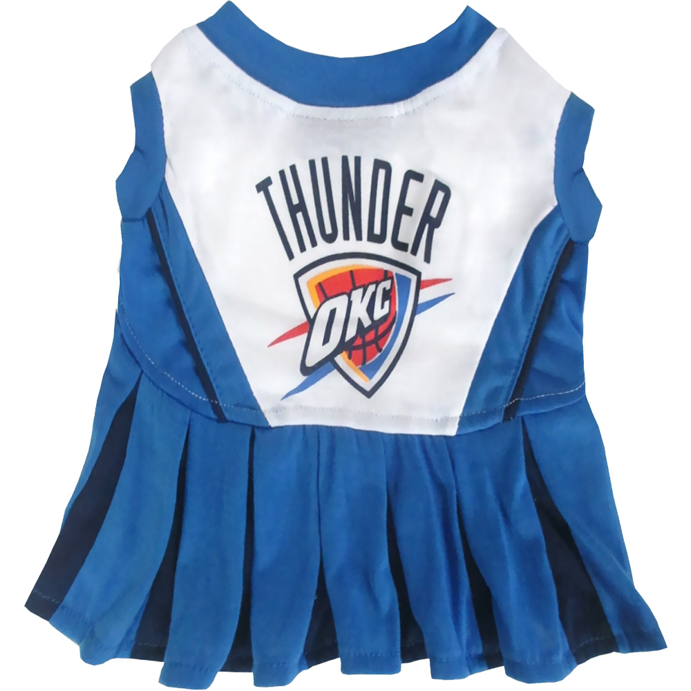 Oklahoma City Thunder Cheerleader Dog Dresses