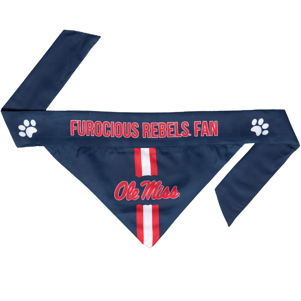Ole Miss Dog Bandana - Tie On (Large)
