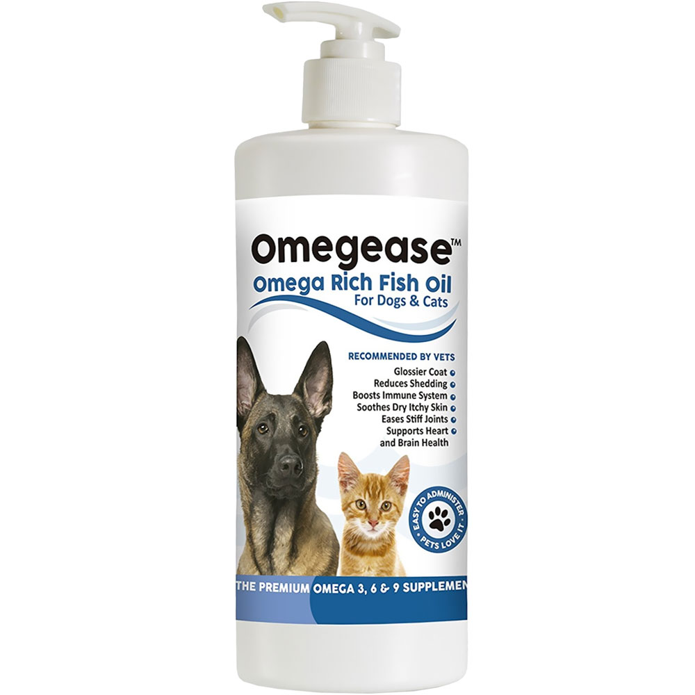Omegease omega rich fish oil for dogs cats 32 fl oz for Dog food with fish oil