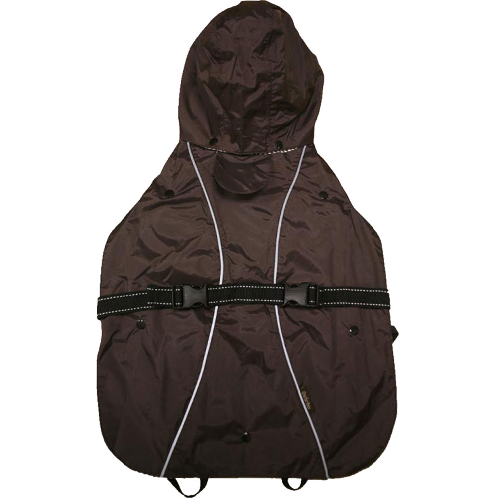 One For Pets All-Weather Dog Coat - Brown 14""