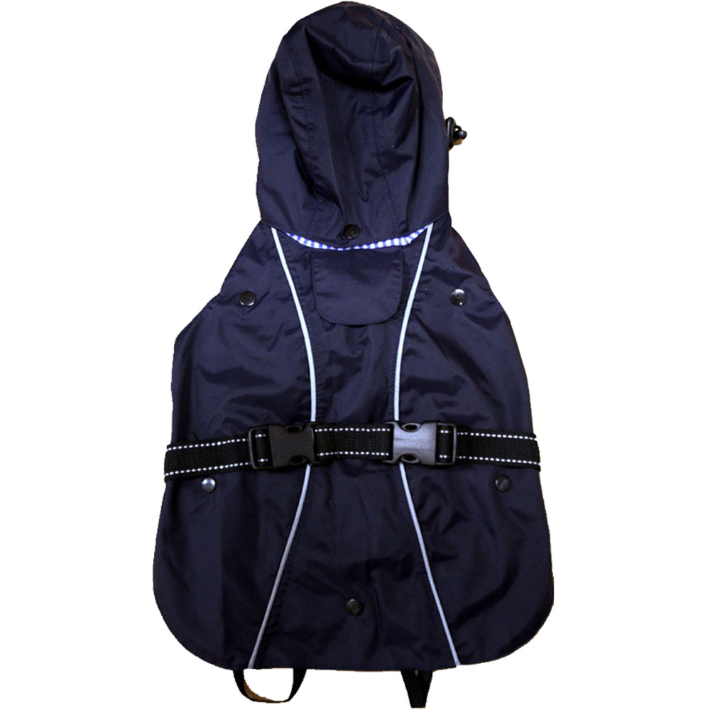 """One For Pets All-Weather Dog Coat - Navy 14"""""""