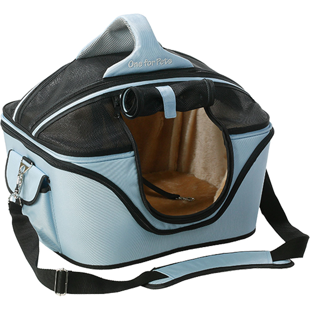 One for Pets Deluxe Cozy Pet Carrier - Blue (Small)