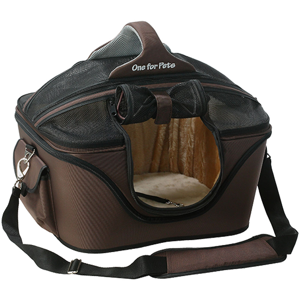 One for Pets Deluxe Cozy Pet Carrier - Brown (Large)