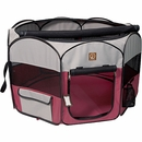 """One for Pets Fabric Portable Pet Playpen - Fuchsia/Grey - Large (46""""x46""""x20.5"""")"""