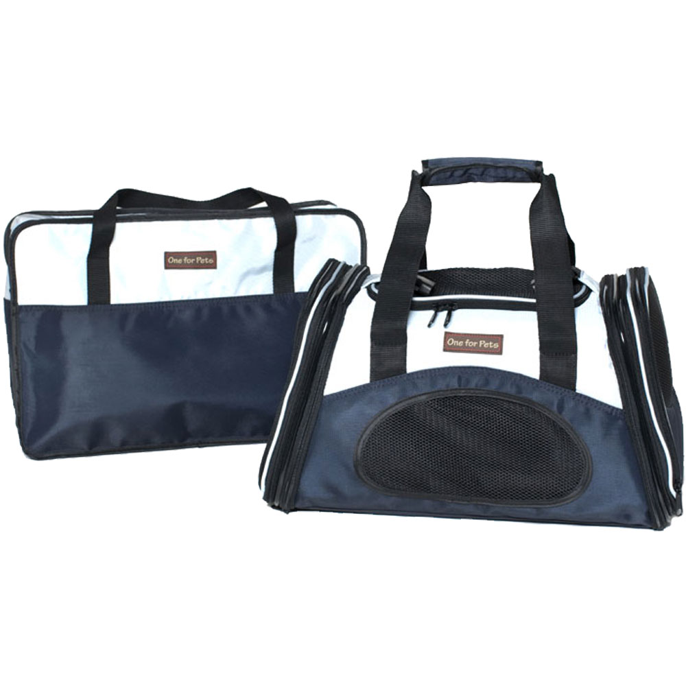 One for Pets One Bag Expandable Pet Carrier - Navy (Small)