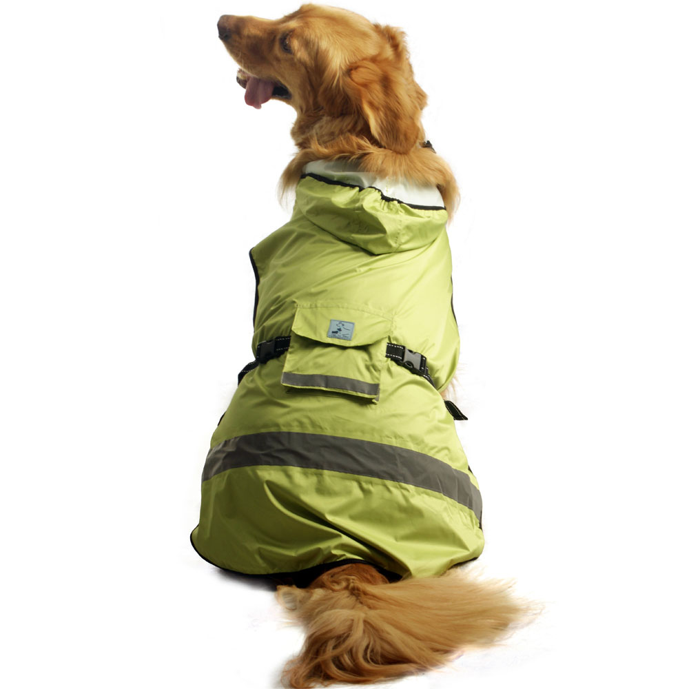 One For Pets Safety Hooded Dog Raincoat - Spring 16""
