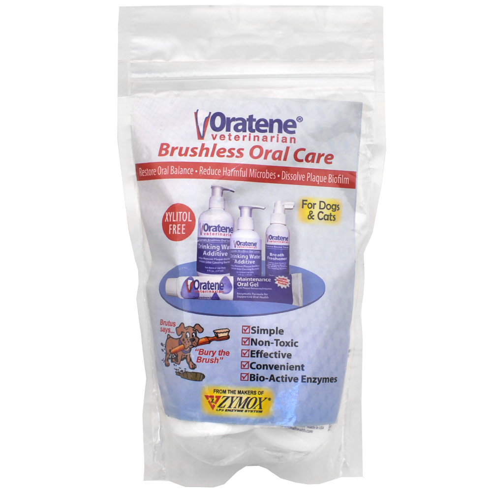 Oratene Veterinarian Brushless Oral Care Kit For Dogs Cats