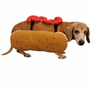 Otis and Claude Fetching Fashion Hot Diggity Dog Costume Ketchup - LARGE