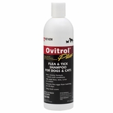 Ovitrol Plus Flea & Tick Shampoo for Dogs & Cats (12oz)
