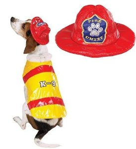 Pawfield Fire Chief Dog Costume