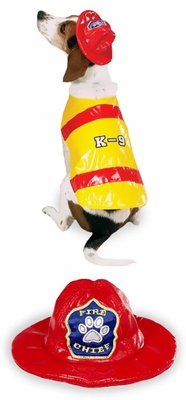 Pawfield Fire Chief Dog Costume - LARGE