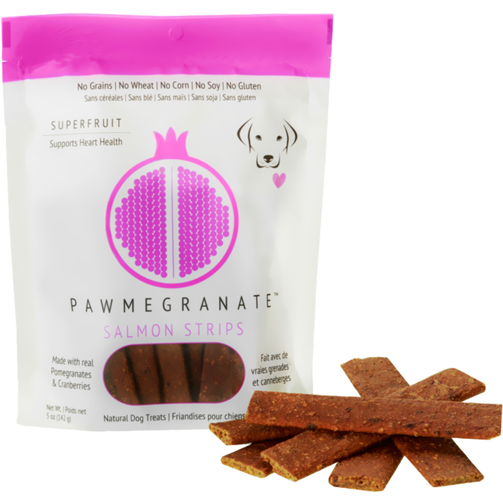 Pawmegranate Salmon Strips for Dogs (5 oz)