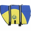 Paws Aboard Pet Life Jacket - Blue/Yellow Neoprene (Large)