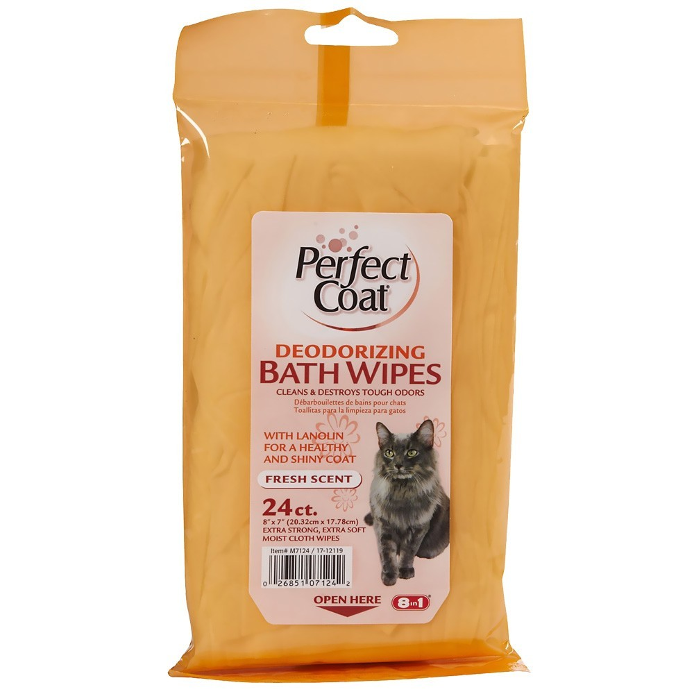 Perfect Coat Deodorizing Bath Wipes