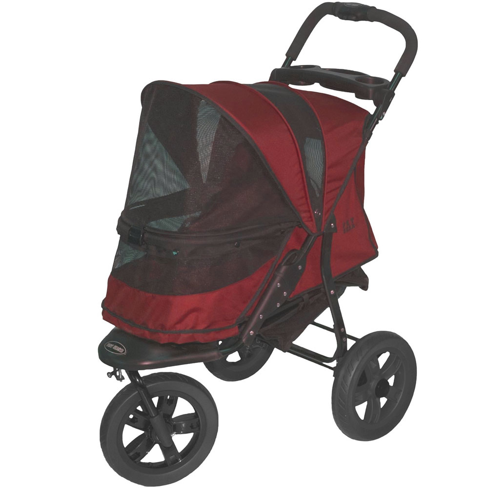 Pet Gear AT3 No-Zip Pet Stroller - Rugged Red