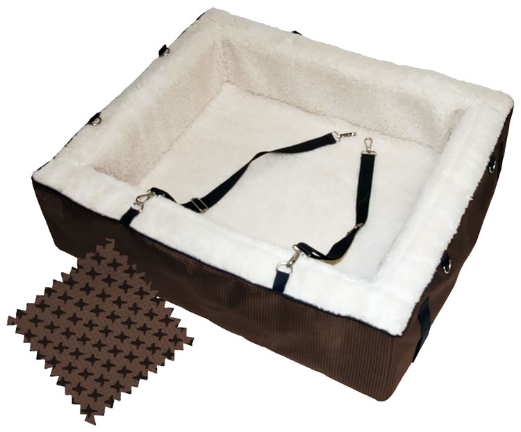 Pet Gear Designer Booster Seat - Extra Large Chocolate