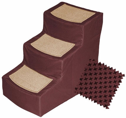 Pet Gear Designer Stair lll with Removeable Cover - Burgundy